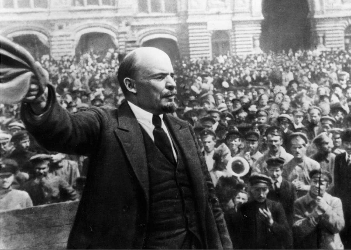 1919: Vladimir Lenin speaking to crowd In 1918, the Soviet Union's recently formed Sovnarkom government established a branch of the armed forces dubbed the