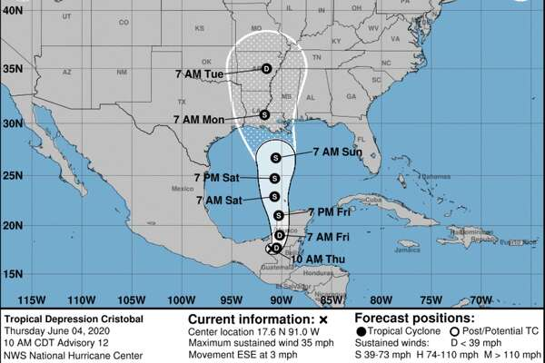 As of Thursday, June 4, 2020, Tropical Storm Cristobal is tracked to hit Louisiana by the weekend, although predictions are changing as the storm develops.