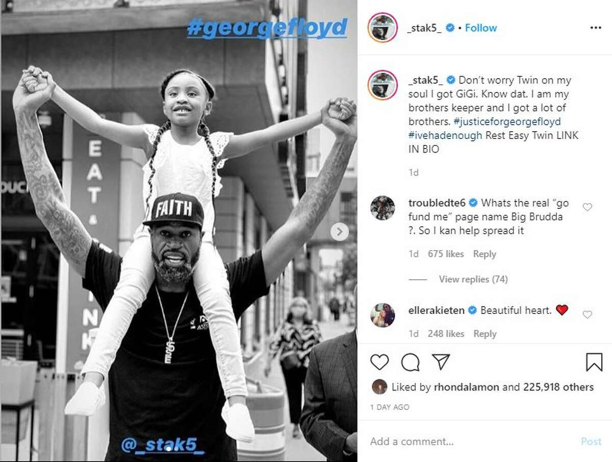 """In a moving new video captured on Instagram, George Floyd's 6-year-old daughter, Gianna, shares a heartfelt message about her dad's impact on the world. """"Daddy changed the world!"""" Gianna Floyd said with an exuberant smile, as she threw her arms up in the air."""