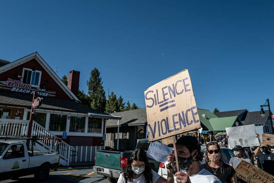 FILE - On June 2 at 5 p.m. members of the North Lake Tahoe / Truckee community took to the streets in support of the Black Lives Matter movement. Photo: Mike Rogge