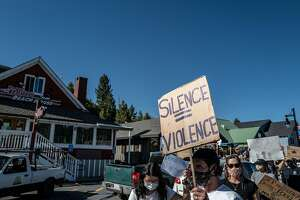 On June 2 at 5 p.m. members of the North Lake Tahoe / Truckee community took to the streets in support of the Black Lives Matter movement.
