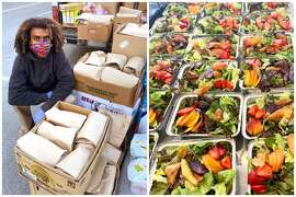Oakland based Raised Roots and Black Earth Farms have collaborated to provide free meals to frontline protesters amid nationwide demonstrations following George Floyd's death and police brutality.