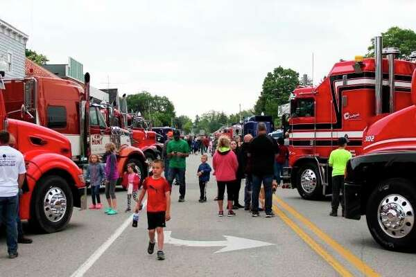 Scenes from the 2019 Harbor Beach Truck Show. This year's show will be replaced by a truck caravan driving across Huron County. (Tribune File Photo)