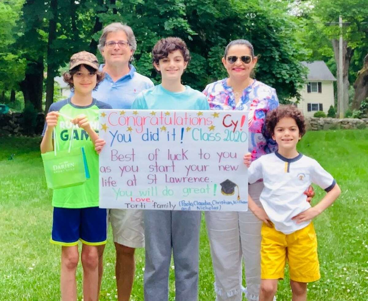 Images from the Darien High School Parents Association's first-ever Adopt-a-DHS Senior Week