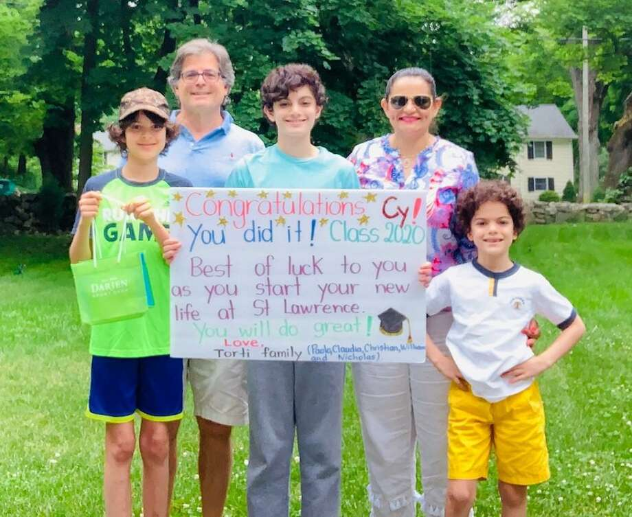 Images from the Darien High School Parents Association's first-ever Adopt-a-DHS Senior Week Photo: Darien High School Parents Association