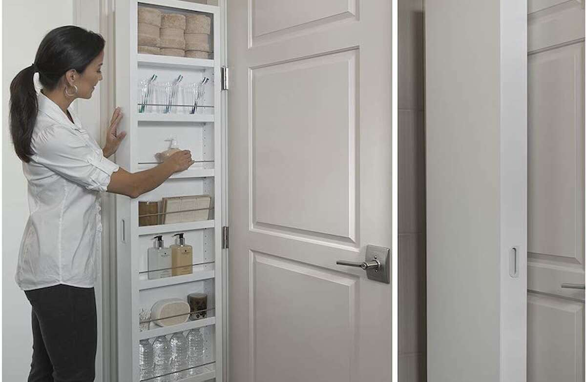 Cabidor Classic Customizable Behind-The-Door Storage You might not have many cabinets in your kitchen, but you should have walls (we hope). Even if you just have one bare wall space (that is often