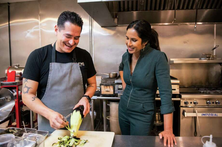 "Padma Lakshmi explores the Mexican food of El Paso in Hulu's ""Taste the Nation with Padma Lakshmi."" Photo: Dominic Valente /Hulu / The content on the Hulu Press Site is the exclusive property of Hulu and/or Hulu's content licensors.  All assets are for one-ti"