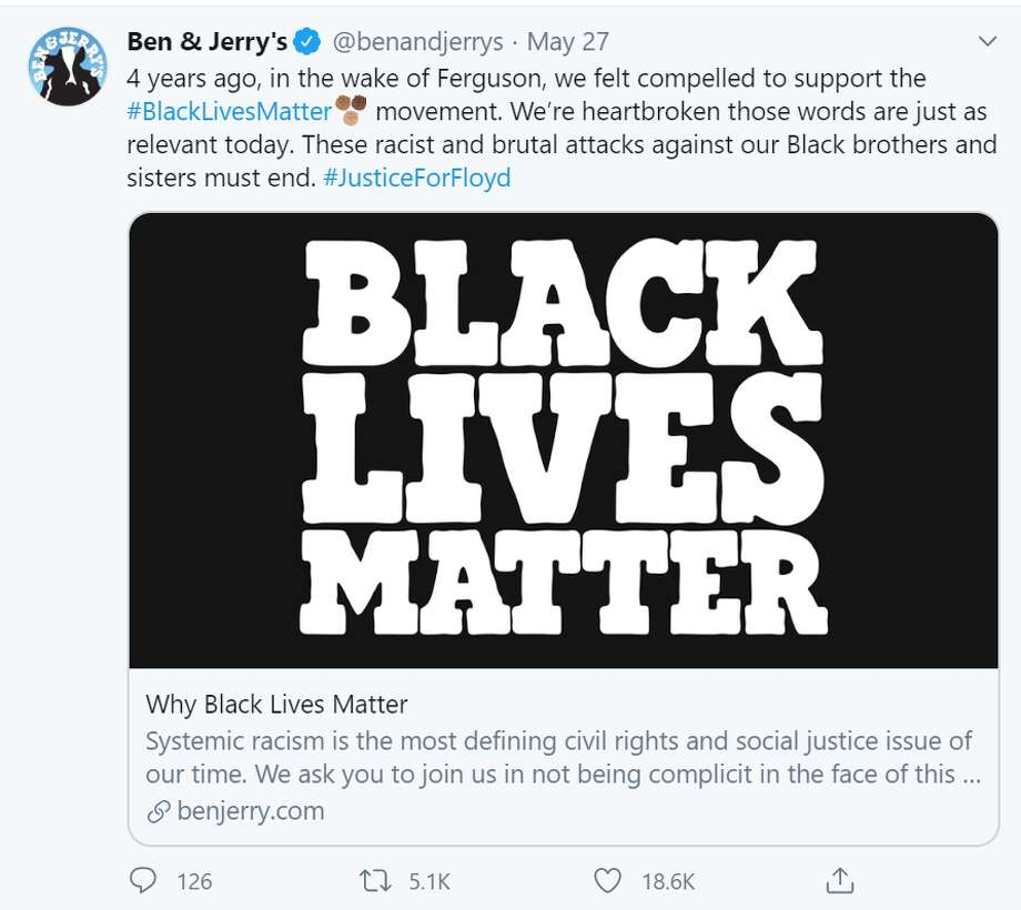 "Ben & Jerry's shared a powerful statement on its Twitter feed on June 2 titled, ""Silence is NOT An Option"" regarding racial injustice. Photo: Screenshot Twitter"