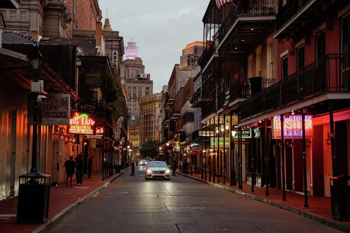 Bourbon Street was a quiet place during the pandemic.