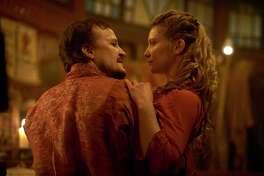 "Damon Herriman and Mia Wasikowska in ""Judy & Punch."""