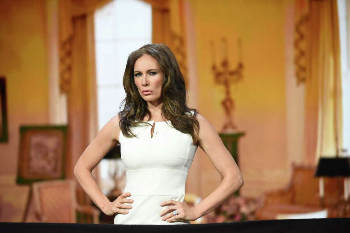 """Laura Benanti, playing Melania Trump on """"The Late Show with Stephen Colbert,"""" in 2018, will perform at the LWT benefit."""