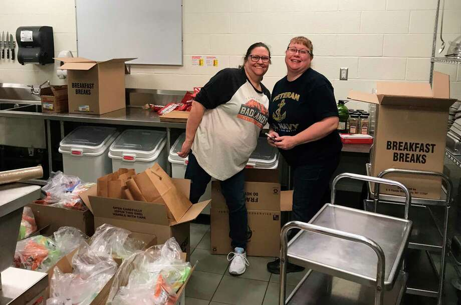 Food service workers and volunteers have done a tremendous job in keeping students throughout Manistee County fed during the COVID-19 pandemic. Kaleva Norman Dickson Schools have utilized the program the most and are closing in on 100,000 meals served since March 16. (Courtesy photo)