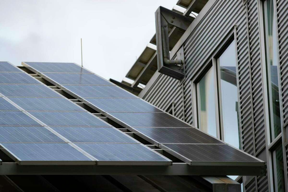 Solar panels on the roof of a Houston home. The threat of power disruptions is prompting homeowners to set up their own electricity sources.