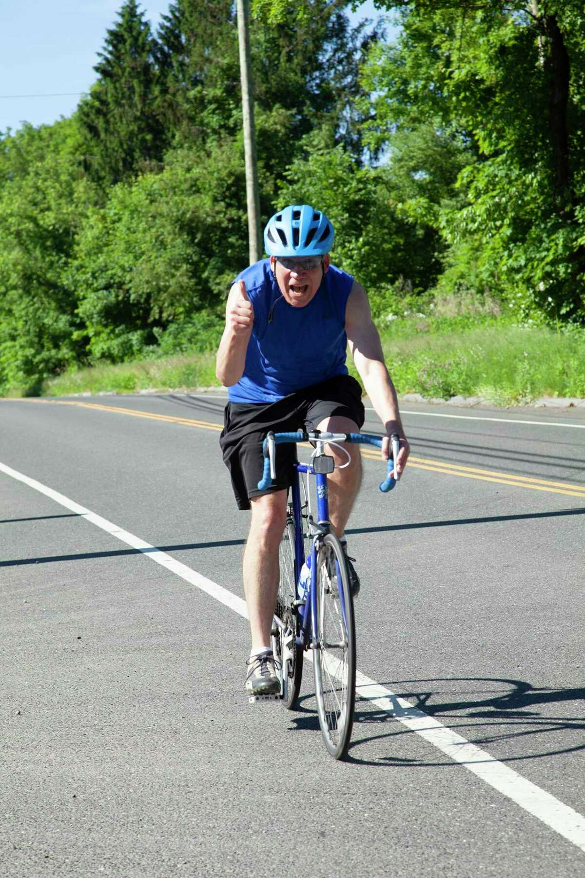 Greater Valley Chamber of Commerce President Bill Purcell participates in a previous Parent Child Resource Center annual bike ride/walk fundraising event.