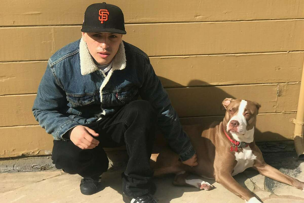 Sean Monterrosa with the family dog Gucci. Sean Monterrosa was fatally shot by Vallejo police on Tuesday, June 2, 2020 as he was kneeling outside a Walgreens and not carrying a firearm when an officer opened fire.