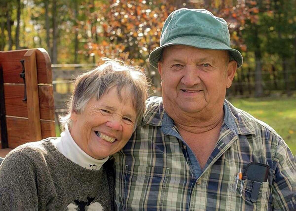 Janice Milliron and her husband Robert Milliron.Janice Millironmade masks for 75 employees at M R Products in Copemish.(Courtesy photo)