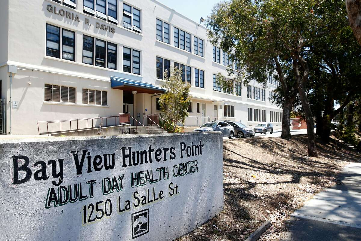 The building housing the Bayview Hunters Point Adult Day Health Center is seen on La Salle Street in San Francisco, Calif. on Thursday, June 4, 2020. Proposed cuts in the state budget could force the Bayview Hunters Point Adult Day Health Center to shut down.
