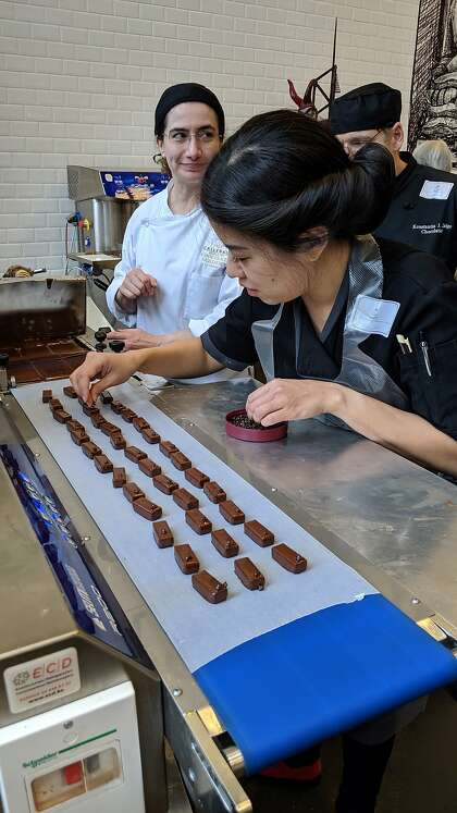 Kimberly Yang, owner of Formosa Chocolates, crafts artisan bonbons out of a commercial kitchen in Emeryville.