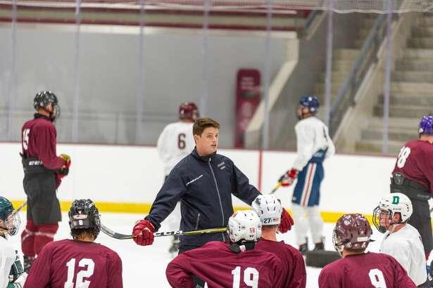 Former Albany Academy hockey coach Brett Riley, who will lead LIU in its inaugural season as a Division I hockey team. (Justin Wolford / Colgate Athletics)