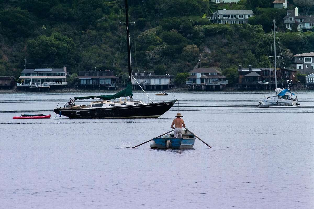 Boats seen in Richardson Bay during the coronavirus outbreak on May 30, 2020 in Sausalito, Calif.