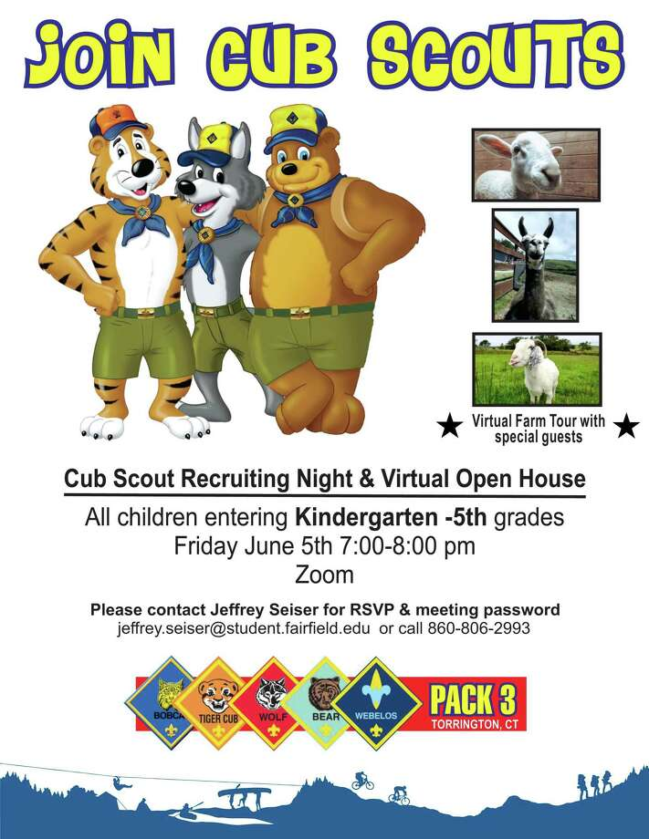 Cub Scout Pack 3 is holding a recruiting night on Zoom June 5. Photo: Contributed Photo