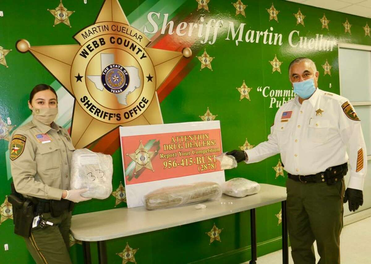 The Webb County Sheriff's Office said they seized cocaine and marijuana in downtown Laredo. Two men were arrested in connection with the case.