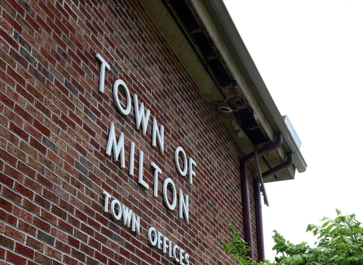 Exterior of the recently condemned Milton Town Hall on Friday, June 5, 2020, in Milton, N.Y. (Will Waldron/Times Union)