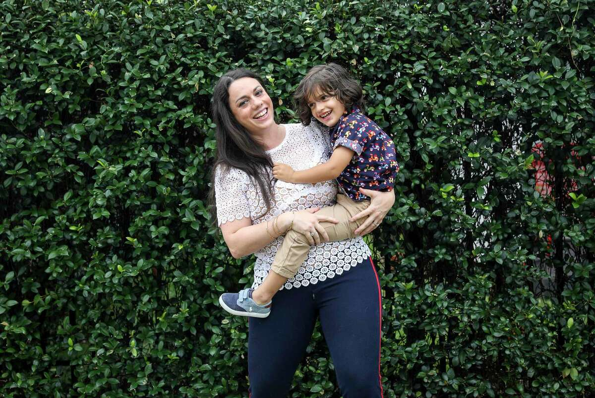A physician stepped in to help Amanda Ducach, shown with son Leo Ducach-Sharma, 3, after an investor dropped out for SocialMama, the smartphone app on which her business is based.