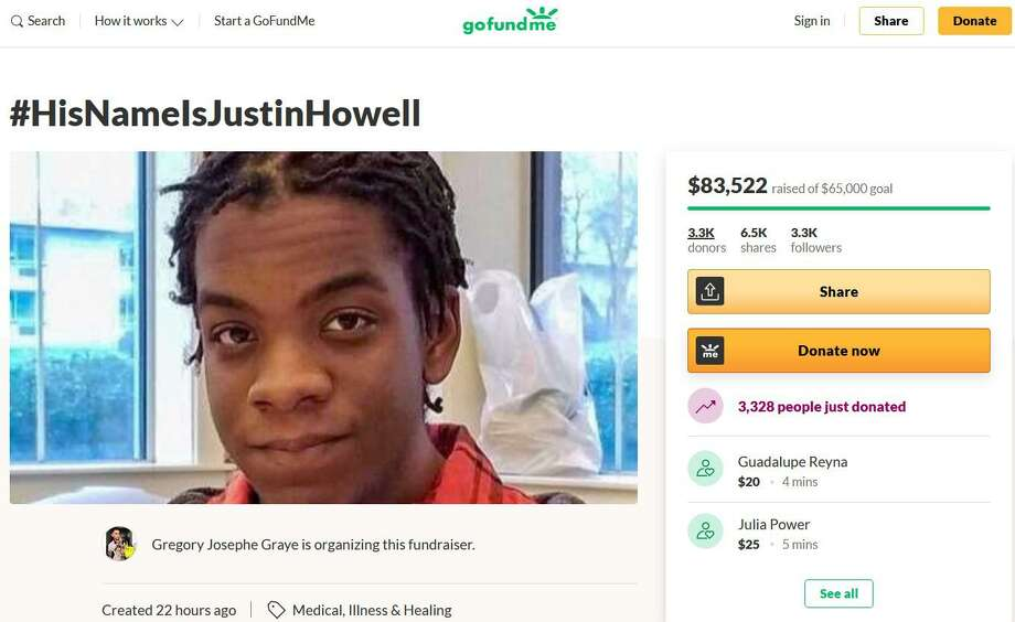 Justin Howell, 20, of San Antonio, suffered severe head injuries when the Austin Police Department used force during a protest outside police headquarters. Howell is in critical condition, according to his family. Photo: GoFundMe.com /Courtesy Photo
