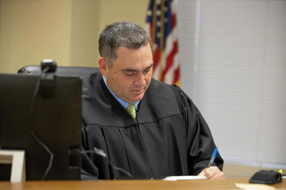 Judge Paul Damico works in his quarters at the 221st District Court in Conroe, Wednesday, June 3, 2020. Photo: Gustavo Huerta, Houston Chronicle / Staff Photographer / Houston Chronicle © 2020