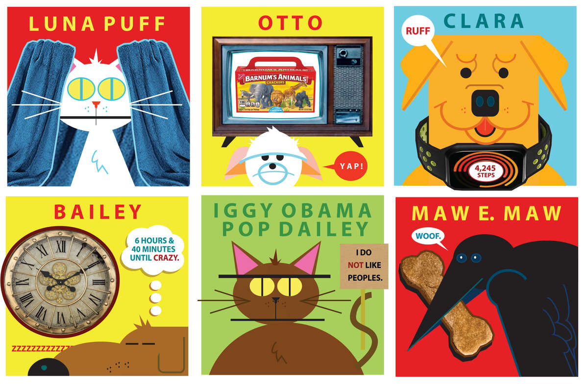 What my pet is doing now. Illustrations by Don Asmussen.
