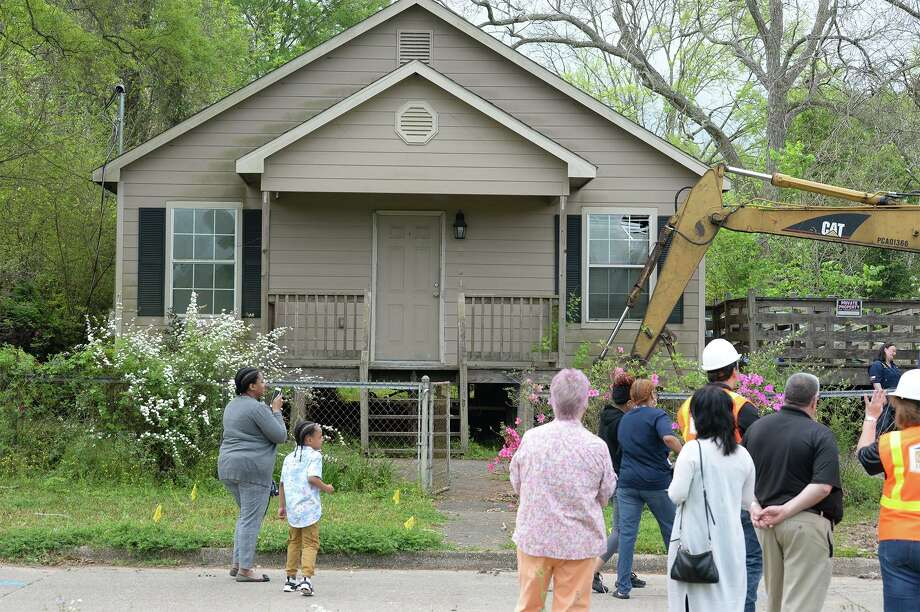 Betty Jolivette's Beaumont home just before being demolished due to Tropical Storm Harvey flood waters. The home is the first of roughly 25 in Jefferson, Hardin and Orange Counties that have been approved by the GLO to be demolished and replaced. Construction on Jolivette's new home begins today and completion is expected in 19 days. Photo taken Monday, 3/25/19 Photo: Guiseppe Barranco/The Enterprise,  Photo Editor / Guiseppe Barranco ©