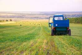 """States with the most farmland With more than329million American mouths to feedand about $139.6billion worth ofagricultural exports, American farms need plenty of land to grow and produce crops. Thanks to widespread mechanization, American farms are some of the most productive on Earth, fetching high yields of the top-five crops: corn, soybeans, alfalfa, and cotton. Those five crops account for over a third of the country's exports. Livestock plays a vital role, too, with American farmers raising over 2 trillion cows, pigs, sheep, and chickens. America's shift to high-yield, mechanized farming-kicked into hyper-drive during World War II when the country needed vast quantities of fats, oils, and meals for herself and allies-forever changed the makeup of American agriculture. Family farms folded in the face of massive factory farms:In 1870, over 50% of the populationwas employed in agriculture, a number that has since dwindled to under 2%. Historically intensive land use depleted topsoil, spread non-native weeds, and deforestation, which led to federal legislation protecting wildlands and subsidizing efficient agricultural practices. The U.S. has roughly2 million farm households, but which American regions have the most acreage devoted to farming? Stacker analyzed the U.S. Department of Agriculture's Major Land Uses Survey, then ranked each state and the District of Columbia based on the number of acres each has dedicated to farmland. For further context, each slide also provides total cropland acreage,cropland used for crops,idle cropland, and cropland used for pasture. The total value of agriculture products sold are from the2017 Agriculture Censusand top crops are fromUSDA state agriculture overviewsas of Sept. 24, 2019. The 2012 MLU data is the latest available from the series which has been published since 1945-Alaska and Hawaii were added in 1959 when they became states. The USDA reports the Major Land Uses series is the """"longest-running, most comprehensive accou"""