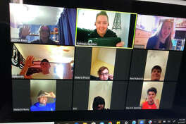 Edwardsville athletic trainer Katie Hamilton has been hosting a Zoom lunch for student-athletes at the high school.