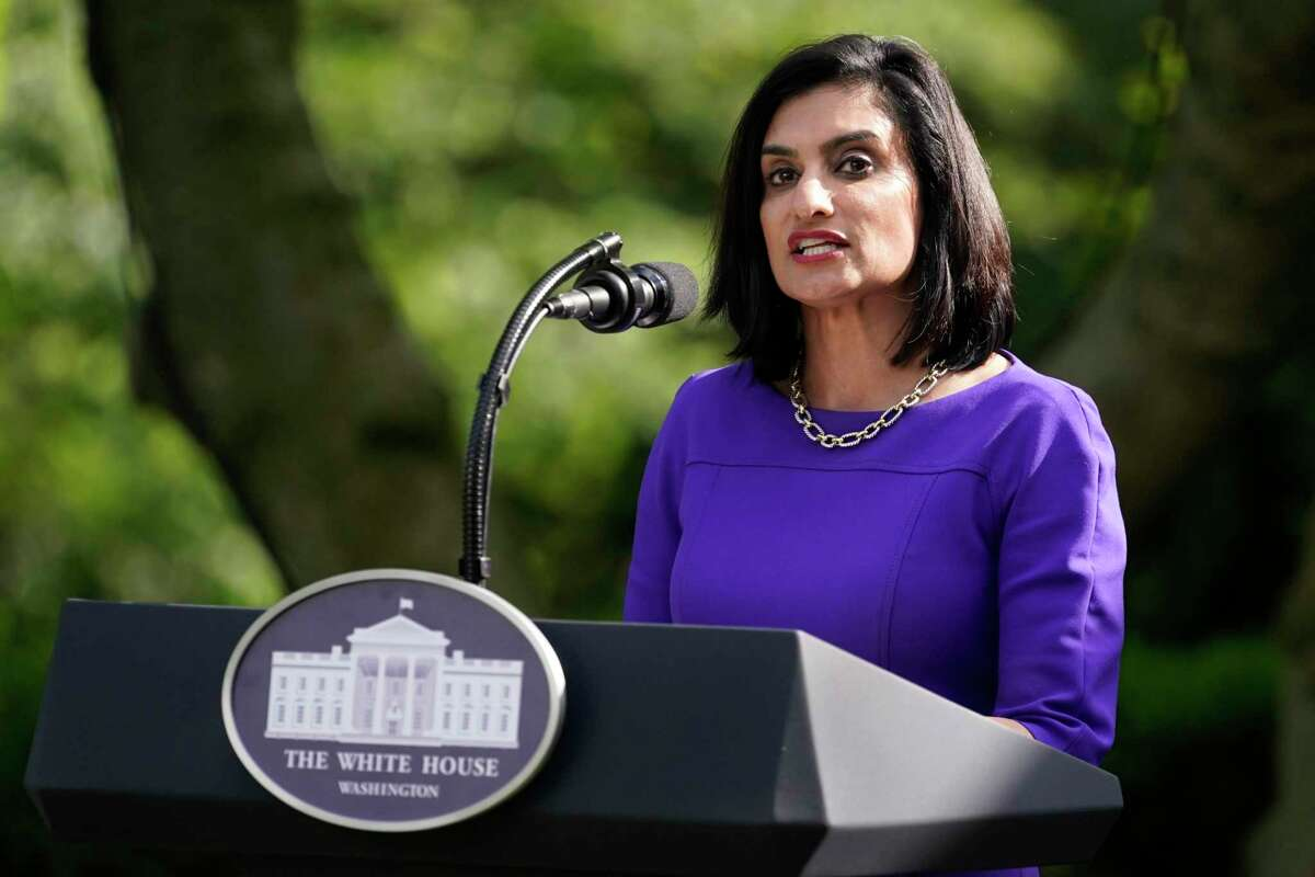 FILE - In this May 26, 2020, file photo Administrator of the Centers for Medicare and Medicaid Services Seema Verma speaks at an event on protecting seniors with diabetes in the Rose Garden White House in Washington. Federal health authorities have received reports of nearly 26,000 nursing home residents dying from COVID-19, according to materials prepared for the nation's governors. Verma says states should use