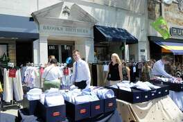 A Brooks Brothers store on Greenwich Avenue in Greenwich, Conn., which the company is keeping open while closing permanently a Darien store and a women's boutique in Westport during the coronavirus pandemic.