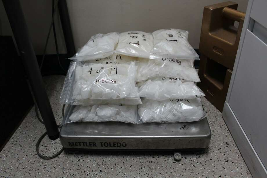 U.S. Customs and Border Protection officers said they seized these narcotics on Tuesday at the World Trade Bridge. The meth had an estimated street value of more than $400,000. Photo: Courtesy Photo /U.S. Customs And Border Protection