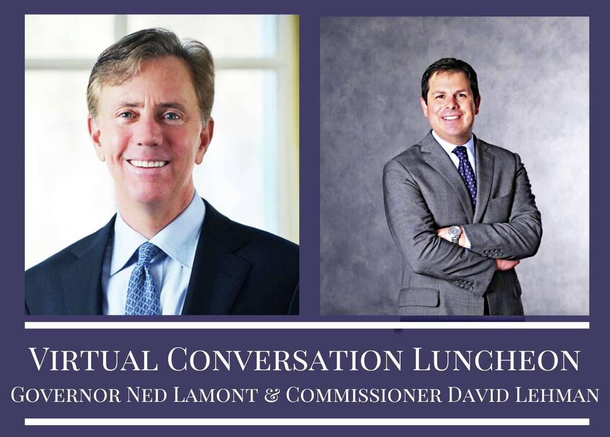 The Middlesex County Chamber of Commerce in Middletown will host a virtual luncheon Thursday afternoon with Gov. Ned Lamont, left, and state Department of Economic and Community Development Commissioner David Lehman, right.