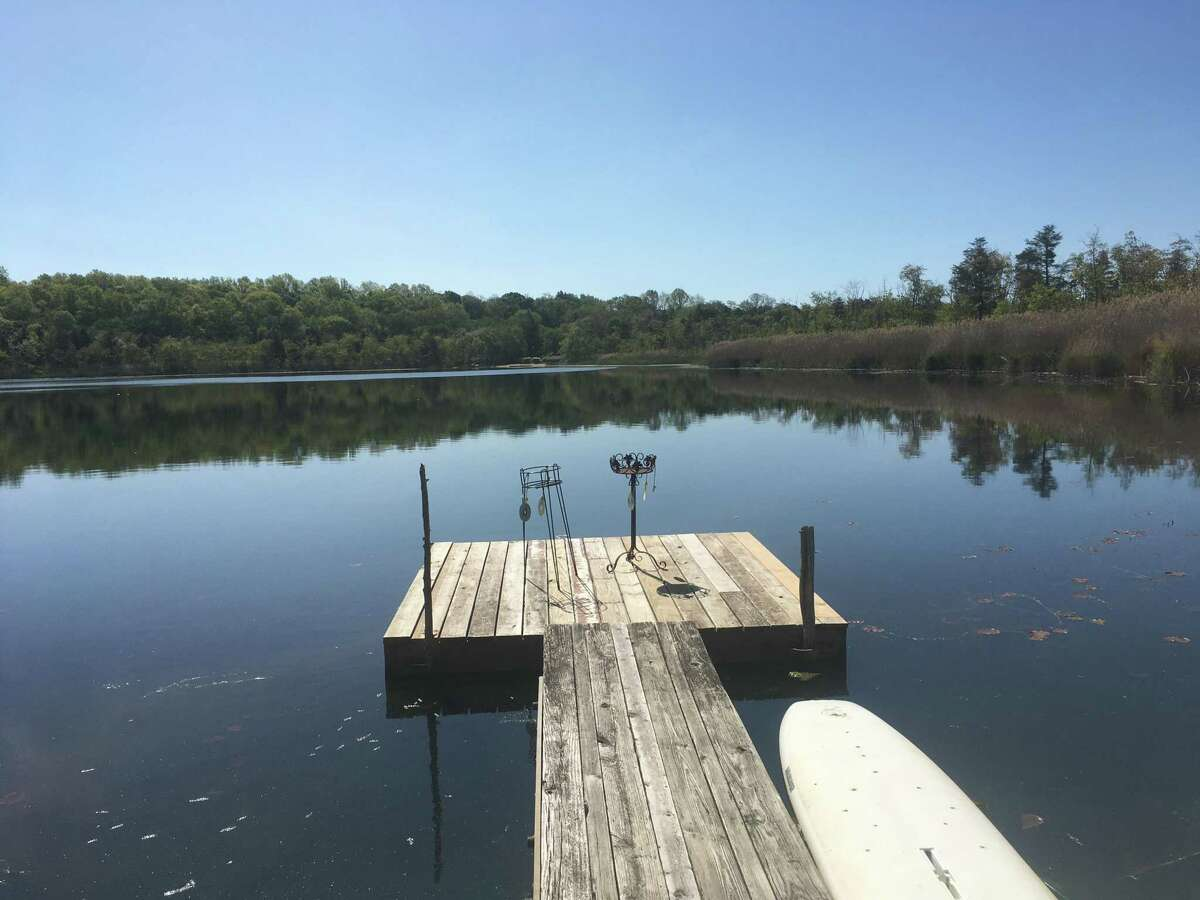 Cedar Pond in North Branford May 21, 2020, as seen from the dock of a neighboring resident.