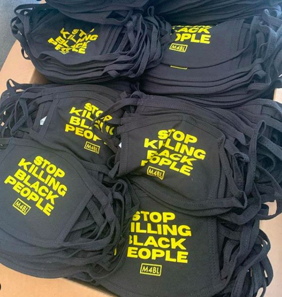 Oakland clothing designers' 'Stop Killing Black People' masks seized by postal officials