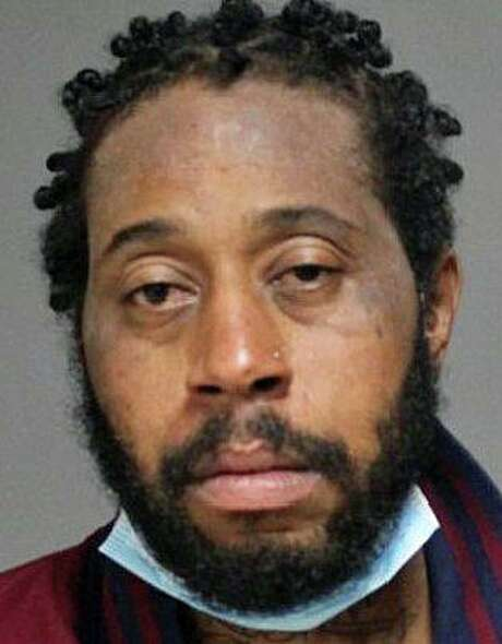 Rhonel Russell, 39, of Bridgeport, Conn., was charged with possession of a controlled substance (crack cocaine and heroin), possession with intent to sell narcotics (crack cocaine), possession with intent to sell a hallucinogen (PCP) and possession of a hallucinogen (PCP). Photo: Contributed Photo / Fairfield Police Department