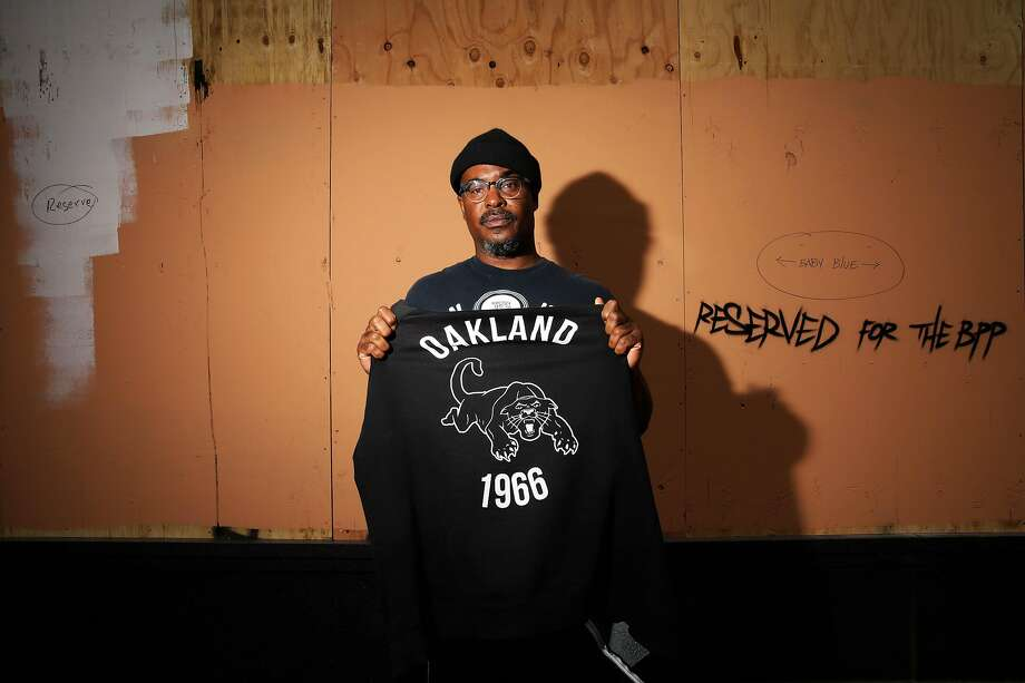 Refa One, an artist and muralist, poses for a portrait near 14th and Broadway in Oakland, Calif., on Friday, June 5, 2020. Artists have been creating art to remember George Floyd and other Black people murdered by policer and other injustices. Floyd, a 46-year-old Black man, was killed by a Minneapolis police officer last week. Photo: Yalonda M. James / The Chronicle
