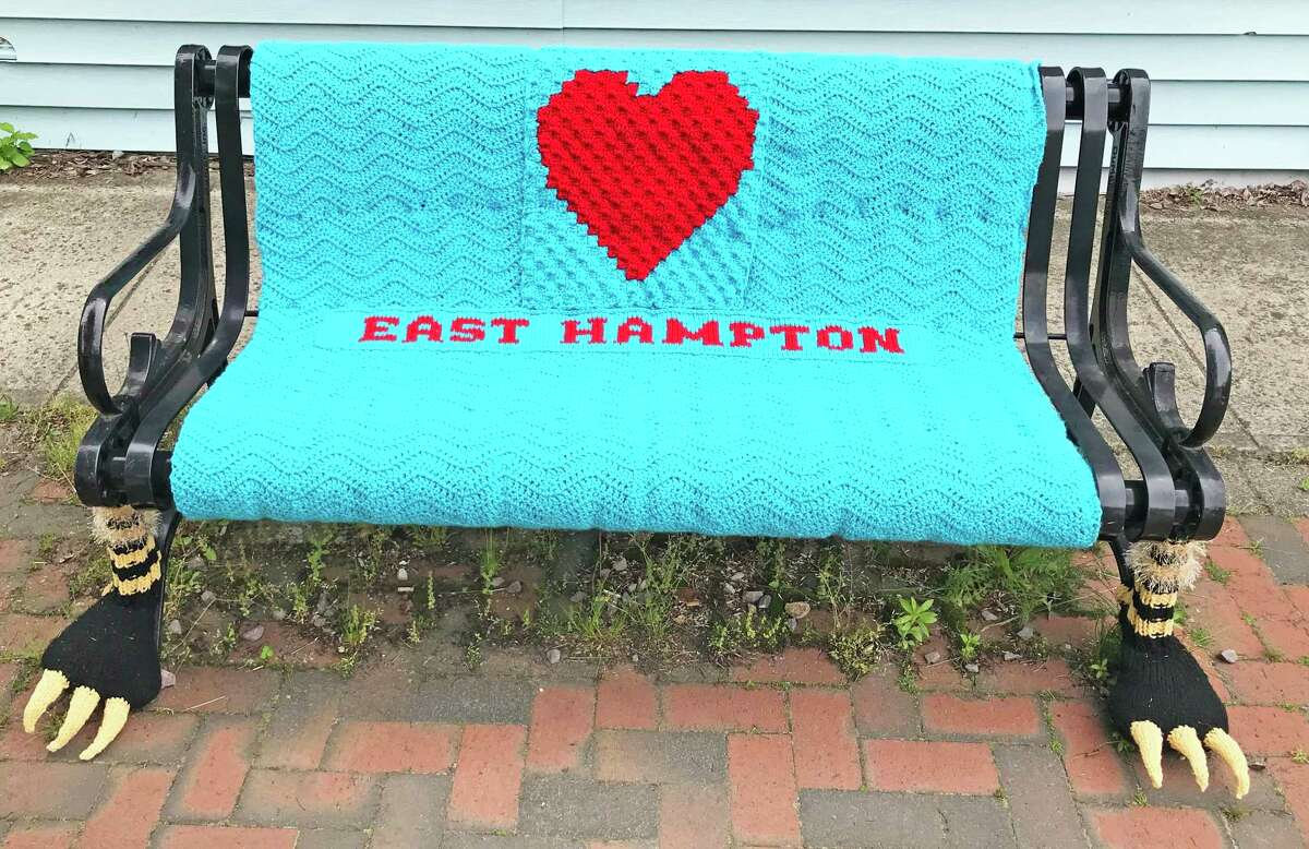 Until July 12, there will be about 80 yarn creations in downtown East Hampton.