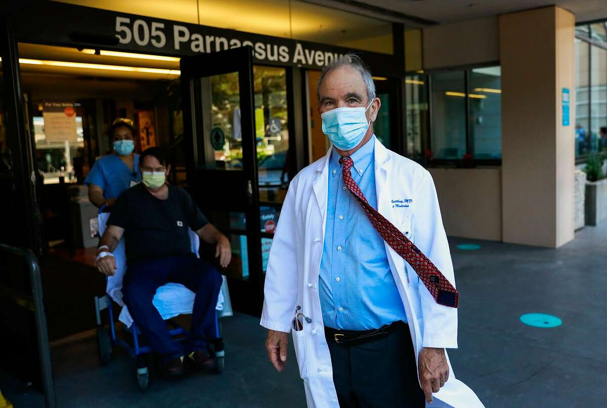Dr. Michael Matthay stands for a portrait outside UCSF on Wednesday, June 3, 2020 in San Francisco, California. Dr. Matthay is running a clinical trial to see if a certain kind of stem cell can be used to treat patients with severe lung problems associated with COVID-19.