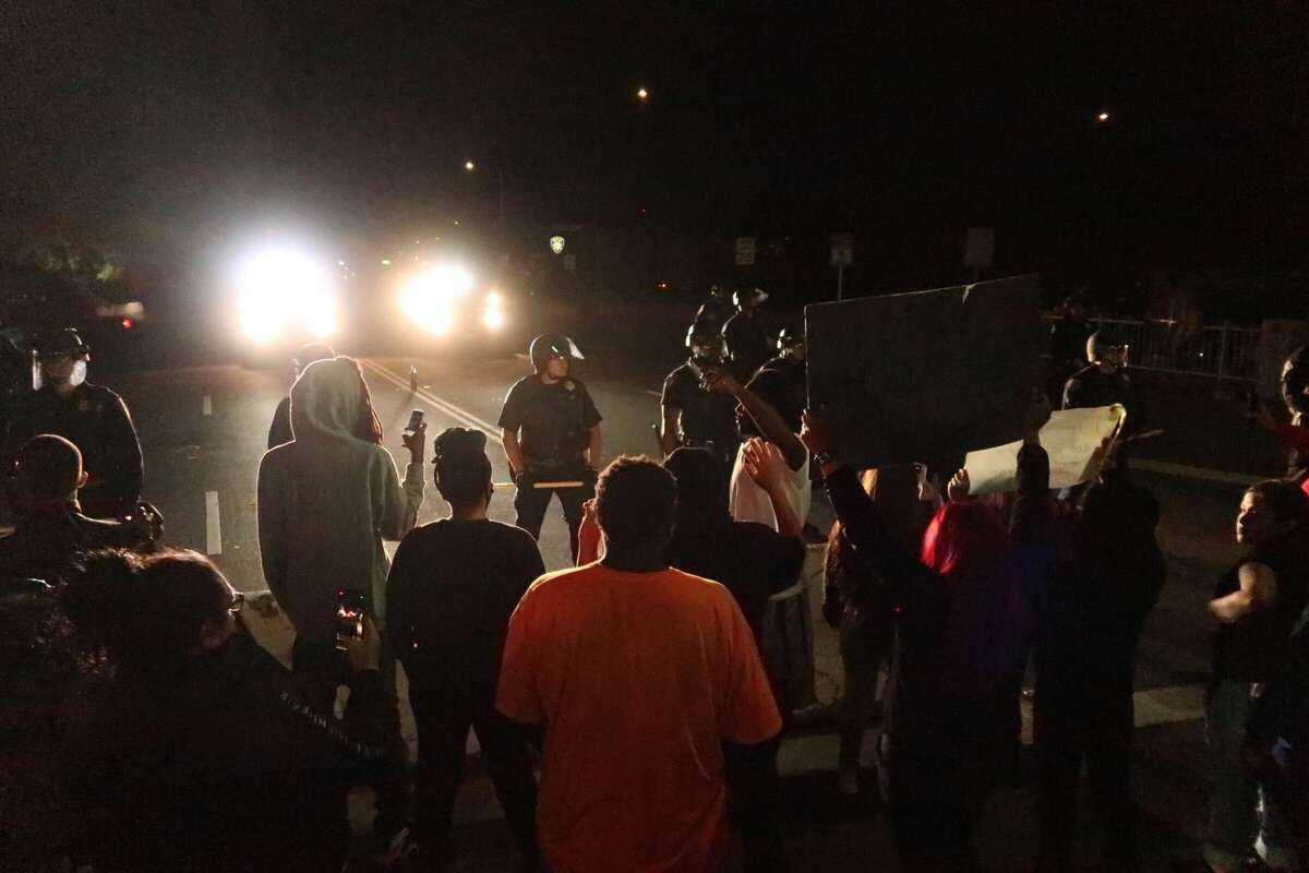 Protests take place in Vallejo over the death of Sean Monterrosa the night of June 5, 2020.