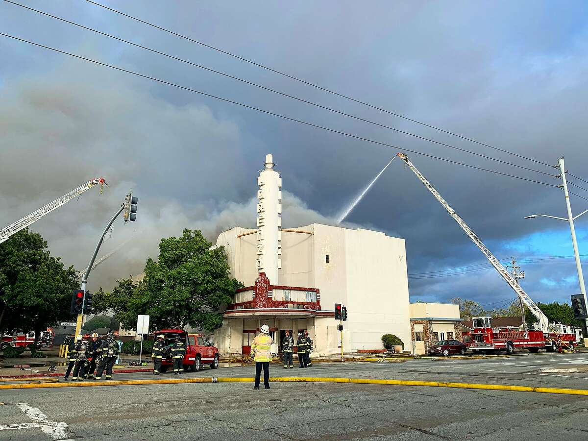 A fire burned the historic Lorenzo Theatre in San Lorenzo on Friday, June 5, 2020.