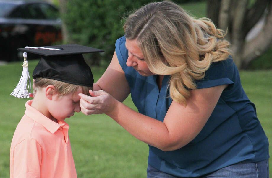 Ubly Community Schools held its kindergarten graduation on Friday, June 5, 2020. The drive-in style event featured two classes of 22 students for a total of 44 graduates. Photo: Mark Birdsall/Huron Daily Tribune