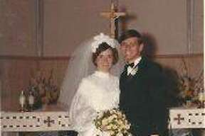 Lyle and Shirley Ward at their wedding