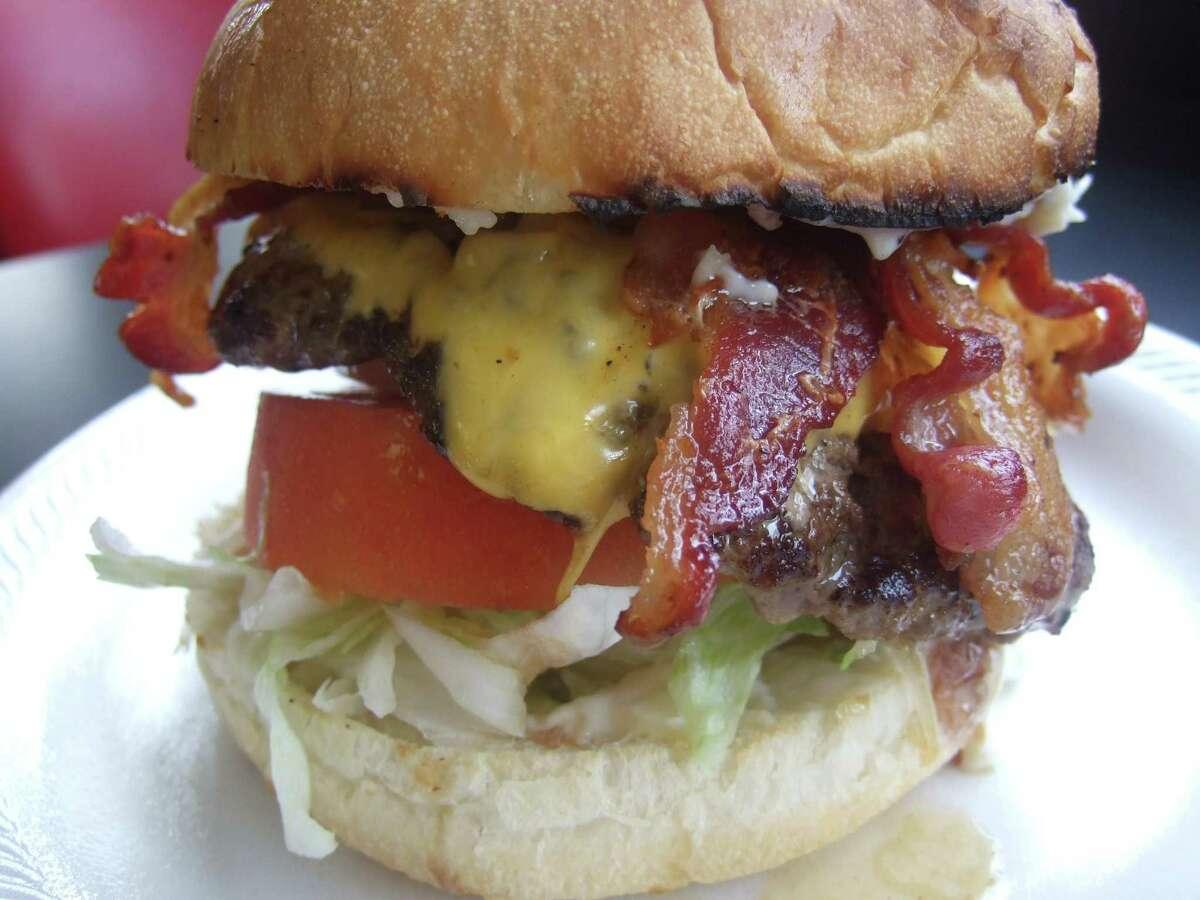 The bacon cheeseburger at Hubcap Grill