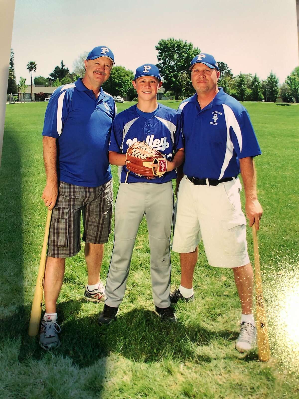 Spencer Torkelson with his dad, Rick, and uncle Mike Enochs.
